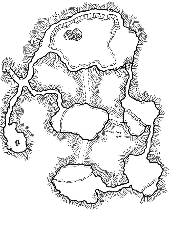 Map – Return to the Daorm Caves Part 1
