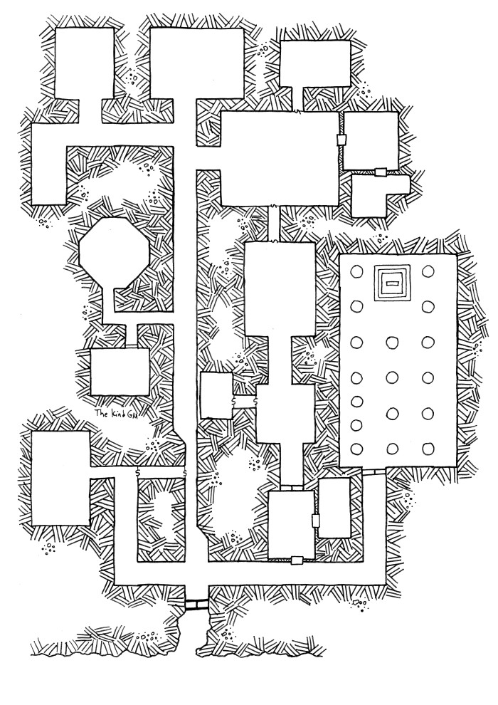 Map – Randomly Generated Dungeon #2