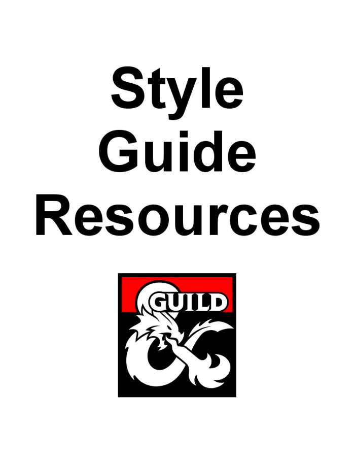 DMsGuild Style GuideResources