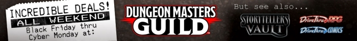 DMs Guild – Black Friday thru Cyber Monday Sale