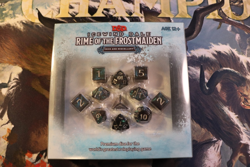 Rime of the Frostmaiden Dice Set Box
